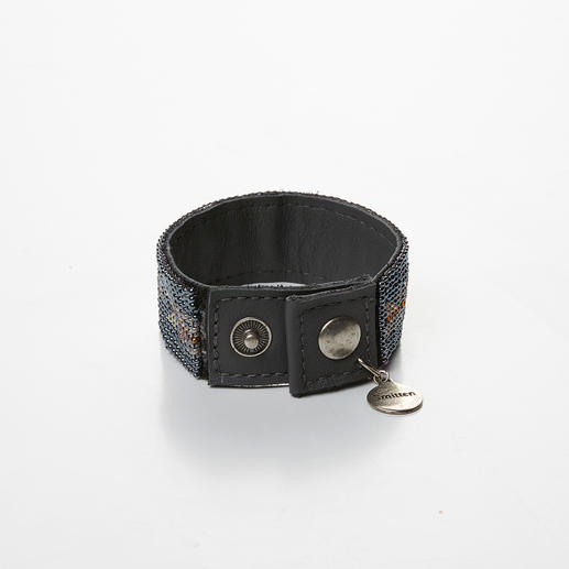 kralenarmband, antraciet