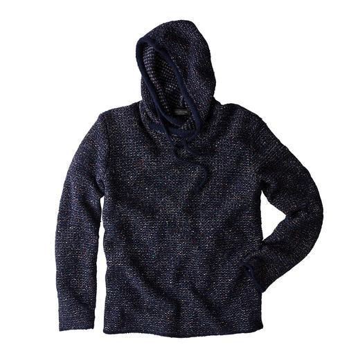 Phil Petter gebreide hoodie in tweedmix De populaire gebreide hoodie heeft dankzij effectgaren een nieuwe look. Van Phil Petter, Oostenrijk.