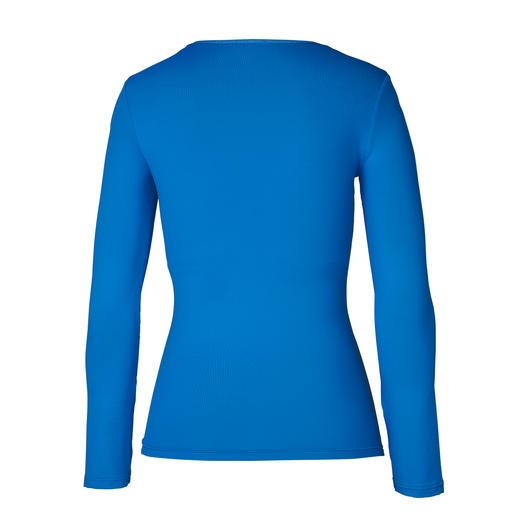 blauw, Lange-mouwen-shirt