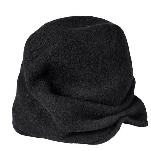 Loevenich 2-variantenmuts 1 muts – 2 looks: casual beanie of trendy tulband. Veelzijdige creatie van Loevenich.