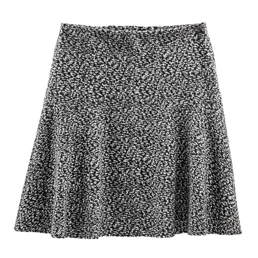 Zwierige rok van katoen-jersey Tweed-look in nieuwe, lichte stijl – van zachte katoen-jersey. Perfect voor een modieuze, zwierige rokvorm.