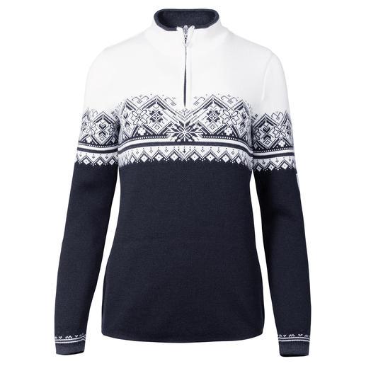 Dale of Norway schipperstrui voor dames Niet zomaar een Noorse trui, maar de originele schipperstrui van de nationale Noorse ploeg.
