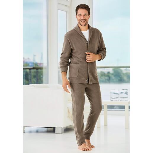 Zimmerli Gentleman Homesuit Het huispak voor de gentleman: Italiaanse Jersey. Elegante snit. Modieuze details. Van Zimmerli.