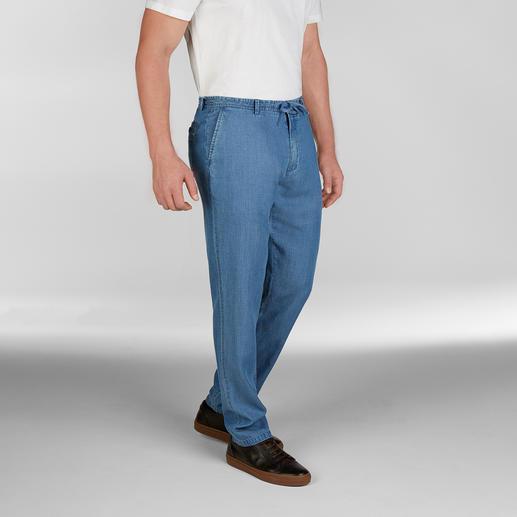 Hackett London strandjeans Een jeans dragen wanneer het 25 °C of warmer is? Met dit exemplaar kan het! Van Hackett London.
