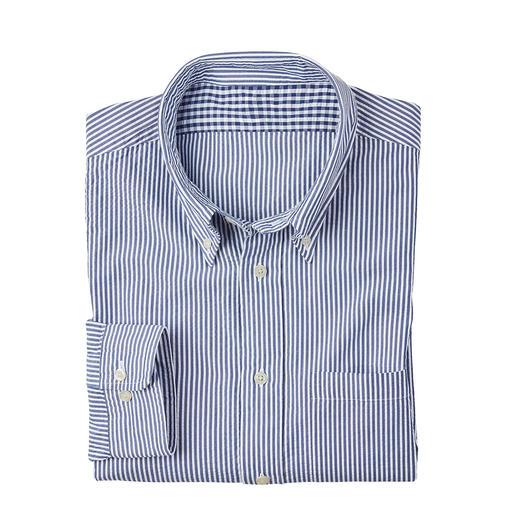 Brooks Brothers seersucker-overhemd Seersucker: de koele crêpestof die de lucht laat circuleren. Verwerkt door Brooks Brothers.