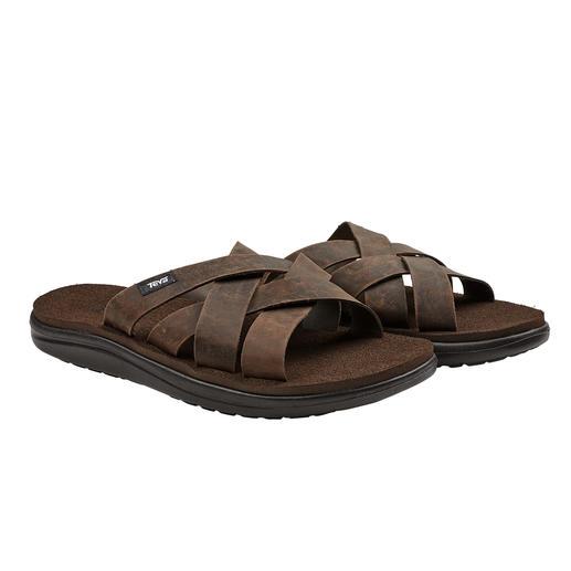 Teva® waterbestendige leren sandalen Chic genoeg voor de boulevard. Stevig genoeg voor strand en zwembad. Van Teva®.