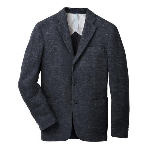 Barutti jasje van jersey en linnen Comfortabel elastisch. Aangenaam luchtig. En toch onmiskenbaar stijlvol. Van Barutti.