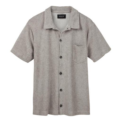 Howlin' badstof-overhemd met korte mouwen Bijzonder comfortabel: zijdezacht overhemd van badstof. Ademend en vochtabsorberend. Van Howlin'.