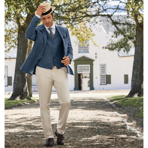 Carl Gross linnen gilet of colbert Op-en-top een gentleman – ook bij temperaturen boven de 30 graden.
