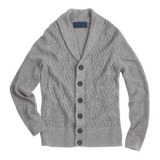 Carbery Aran-zomervest Aran-breisel in zomerse stijl. Luchtig vest van linnen en katoen – made in Ireland, van Carbery.
