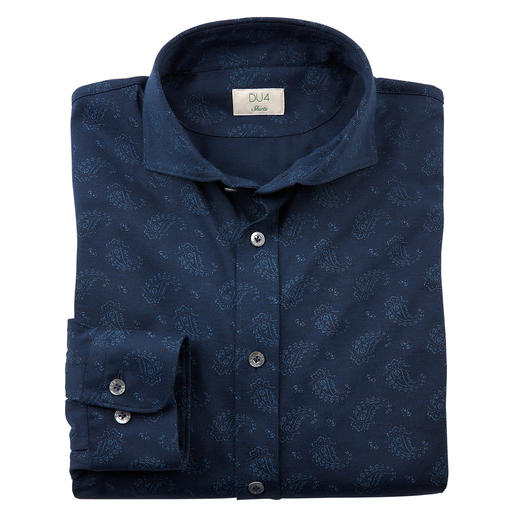 Dorani paisley-jersey-overhemd Zo comfortabel als een T-shirt, maar zelfs geschikt om naar kantoor te dragen.