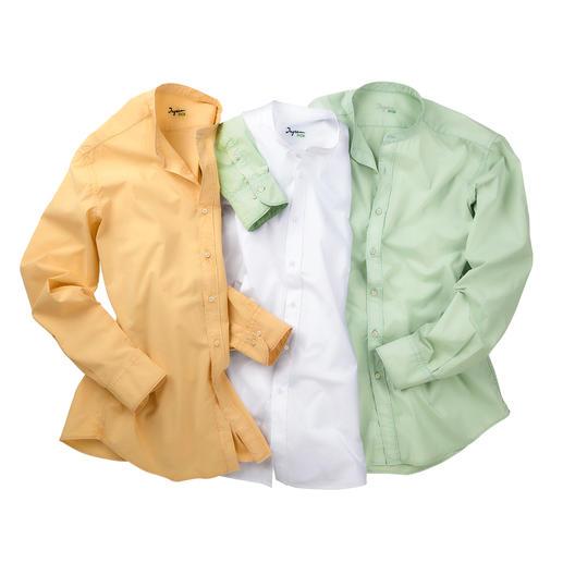 Ingram basic mousseline-overhemd Zo verzorgd als katoen-poplin. Luchtig als linnen. Lichter dan beide kwaliteiten. Van Ingram.