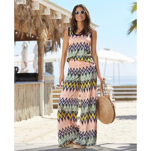 MMissoni badpak, top of broek met zigzagmotief Beachwear de luxe. Trendy modellen en kleuren. Onmiskenbaar M Missoni.