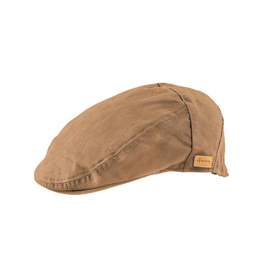 Herman Headwear waxed cotton - Door speciale microwax waterafstotend en winddicht, maar toch ademend. Puur katoen en toch weatherproof.