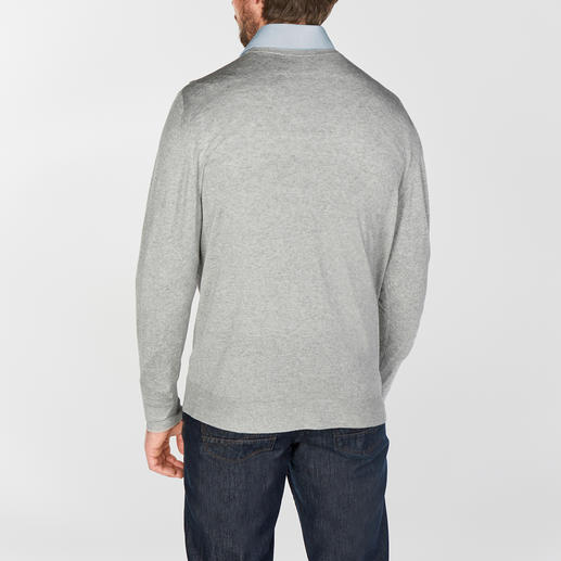 ronde hals, grijs-gemêleerd