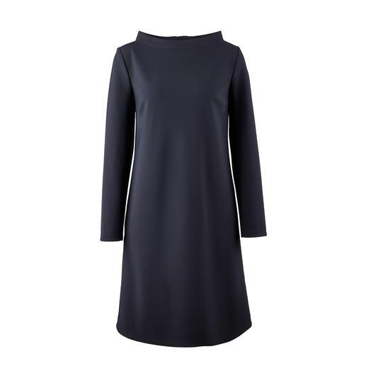 Barbara Schwarzer jurk in A-lijn - Functioneel als wollen jersey, mooi als functionele jersey. Van de kledingspecialist Barbara Schwarzer.