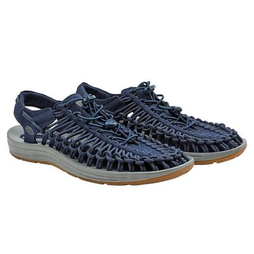 KEEN® outdoor sandals Uneek™, heren 2 veters + 1 zool = de meest innovatieve outdoor-sandaal van dit moment. Van outdoor-specialist KEEN®, USA.