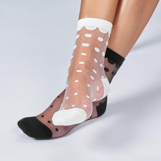 ELBEO gestippelde sokken Ademende trendy nylonsokken, van een van de oudste beenmodemerken ter wereld: ELBEO.