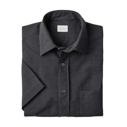Seersucker-overhemd, korte of lange mouwen Het perfecte zomerse overhemd voor bij verzorgde casual outfits. Van Dorani.