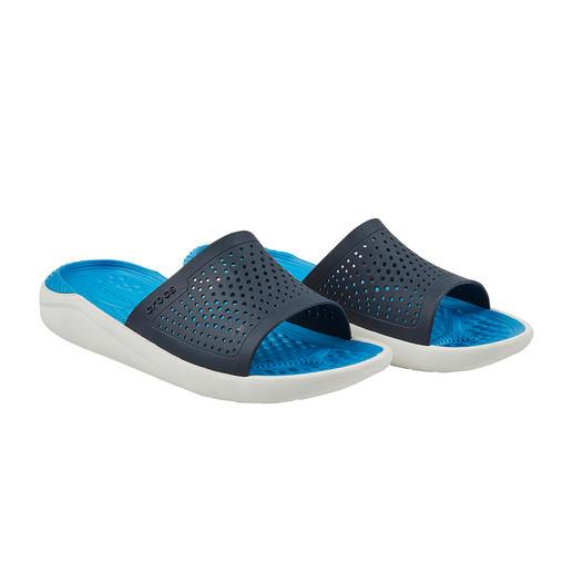 Crocs™ LiteRide™ badschoenen voor heren De comfortabele Crocs™ zijn nu nog verder verbeterd. De nieuwe LiteRide™-collectie is 40% zachter, 25% lichter.
