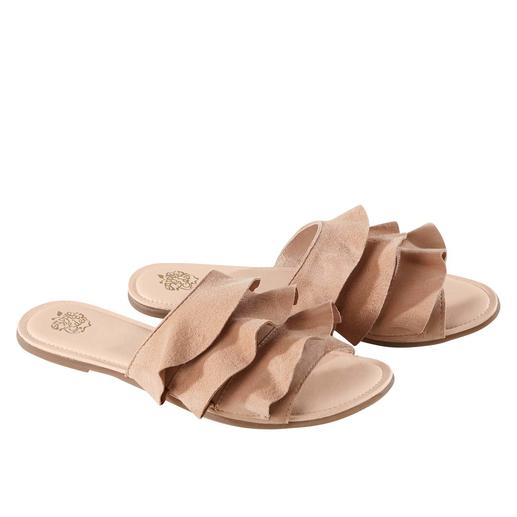 Apple of Eden flats met volant Trendy tot in detail. Comfortabeler dan de meeste. De flats met volant van Apple of Eden.