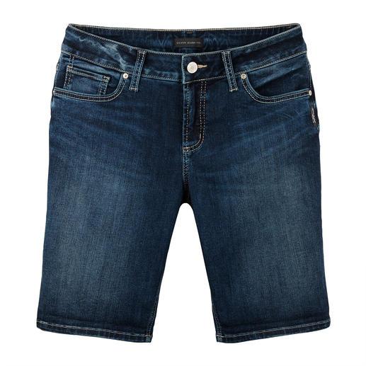 Silver skinny-jeansshort De originele Silver-jeans uit Canada: perfecte pasvorm, unieke stijl. Nu ook als modieuze jeansshort.