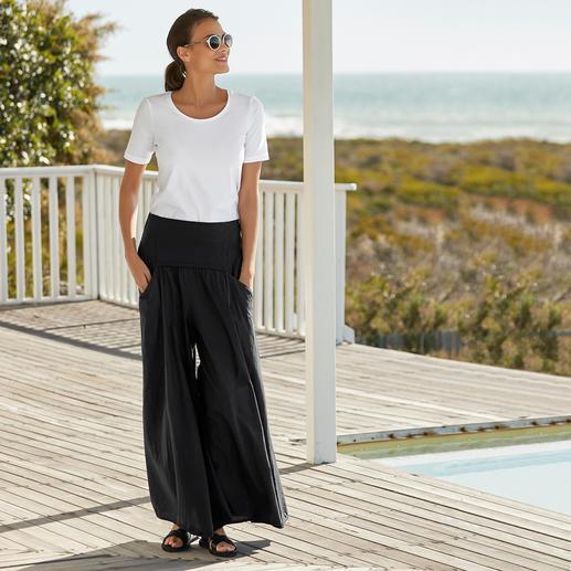 Elisa F. Ibiza-broekrok De echte Ibiza-broek: gisteren nog een klassieker in hippiestijl. Vandaag de ster van de widelegtrend.