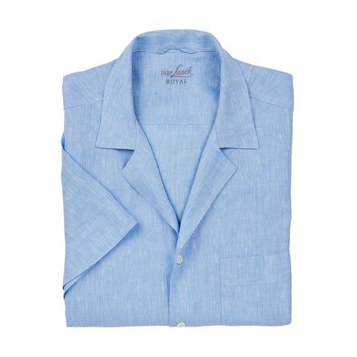 van Laack bowling-overhemd Het bowling-overhemd voor de gentleman. Klassiek wit en lichtblauw. Van puur linnen. Van van Laack.