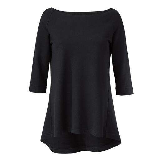 [schi]ess jerseyshirt, driekwartmouwen of jersey-maxirok Chic zwart. Zachte jersey. Eenvoudig, casual model. Van [schi]ess.