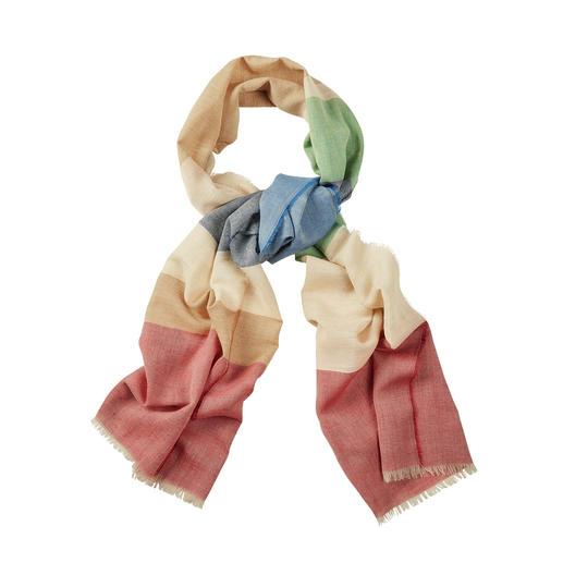 Lochcarron 6-kleurige sjaal 6-kleurige sjaal van wol, zijde en linnen. Van Lochcarron of Scotland.