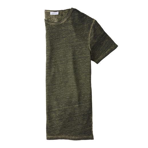 Uw natuurlijke airco op warme dagen: het T-shirt van zuiver linnen. Uw natuurlijke airco op warme dagen: het T-shirt van zuiver linnen. Van overhemdenspecialist van Laack.
