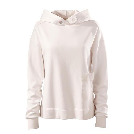 Strenesse sweater met capuchon Chique sportcouture in plaats van een te casual streetstyle: sweater met capuchon van Strenesse.