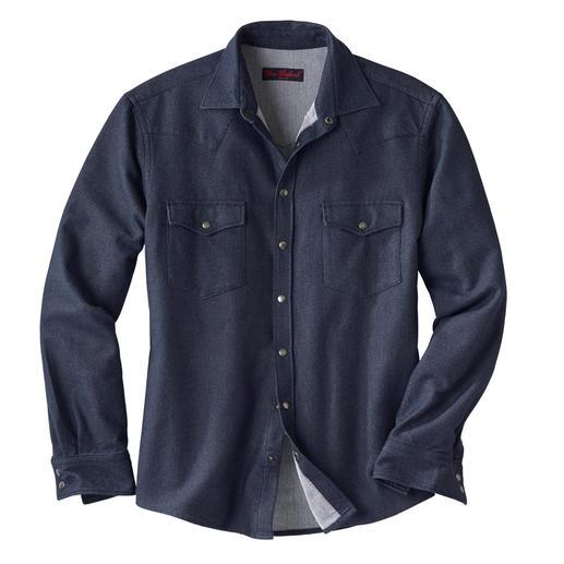 Flanellen jeansoverhemd Van zacht flanel. Zo warm dat u het ook als overshirt kunt dragen.