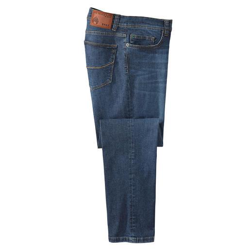 Brax  Blue Planet jeans Gefabriceerd met 30% minder energie, 50% minder water en 70% minder chemicaliën.