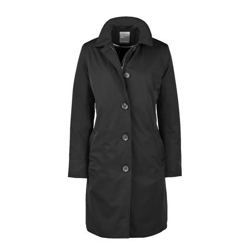 HappyRainyDays Travelcoat, zwart Zeldzame gelukstreffer: De stijlvolle travelcoat, die perfecte bescherming tegen de regen biedt.