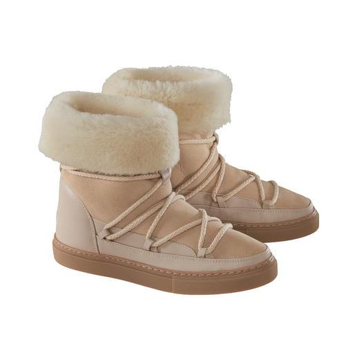 Inuikii slimline-boots met lamsvacht 100% modieus. 100% geschikt voor de winter. Boots met lamsvacht van Inuikii.
