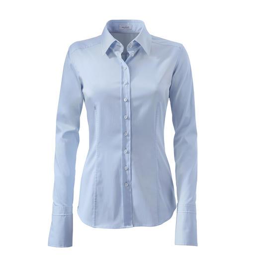 van Laack basic-blouse 'cupmaten' Perfecte pasvorm bij borst en taille. Dankzij 3 verschillende 'cup' -maten. Van van Laack.