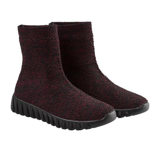bernie mev. gebreide laarzen De modehit uit New York: sportieve, gebreide laarzen van de 'Master of woven Footwear', bernie mev.