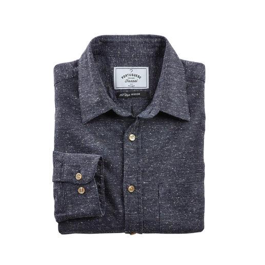 Donegal-overhemd Aangenaam zacht, anders dan de robuuste tweed-look doet vermoeden.
