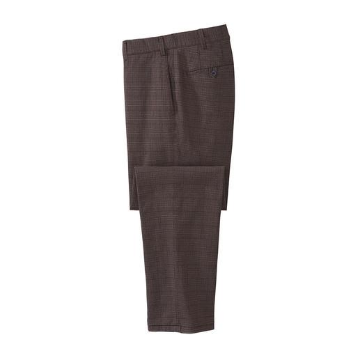 Prince de Galles-broek met wollook van Hilfl Zakelijke scheerwollook – maar gemaakt van zacht, kriebelvrij katoenen flanel.