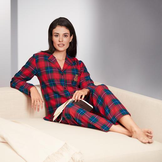 Ralph Lauren preppy-pyjama Klassiek model. Heerlijk zacht flanel – in de chique preppy-stijl van Ralph Lauren.