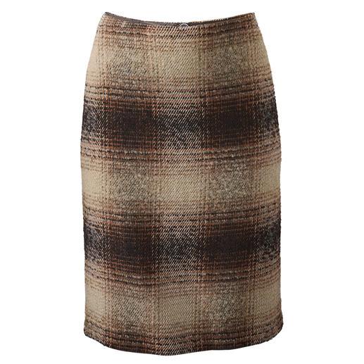 Geruite bouclérok Klassieke geruite rok in een nieuwe look dankzij de boucléstructuur.