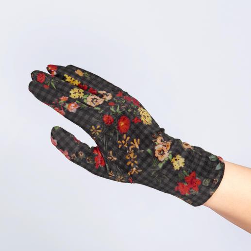 Ixli fleece-handschoenen Vrolijk veelkleurig in plaats van saai en eentonig. Fleece- en fluwelen handschoenen van Ixli, Frankrijk.