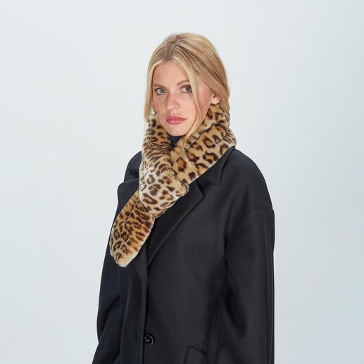 molliolli luipaard-colsjaal Modieuze update van een elegante klassieker: colsjaal van hoogwaardig luipaard-fake fur.