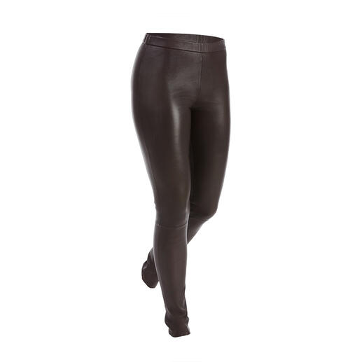 Depeche Stretchleren legging Skinny pasvorm en toch supercomfortabel: de elastische lederen legging van de Duitse leerspecialist Depeche.