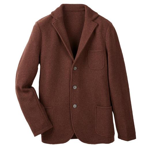 Gran Sasso gebreide  Geelong-blazer Aangezien de wol die ervoor gebruikt is, wereldwijd het absolute summum is.