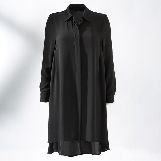 Dit zou heel goed uw favoriete kledingstuk kunnen worden: lange zwarte blouse in perfect jurkmodel. Dit zou heel goed uw favoriete kledingstuk kunnen worden: lange zwarte blouse in perfect jurkmodel.