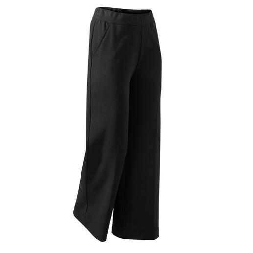 Punto Milano Wide Leg Pants De perfecte zwarte broek voor elke dag en elke gelegenheid. Chic Punto Milano-jersey.