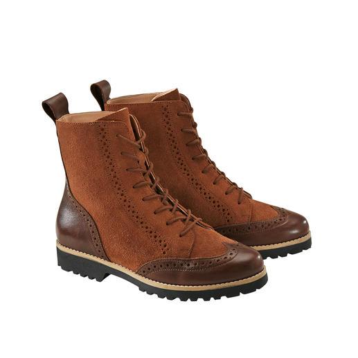 Modieus model. Superzacht leer. Lichte, isolerende TPR-zool. Modieus model. Superzacht leer. Lichte, isolerende TPR-zool. Budapest-boots van de schoenenspecialist Werner.