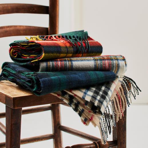 Lochcarron tartansjaal - Sjaals met Schotse ruiten ziet men overal. Geregistreerde tartans zijn daarentegen erg uniek.